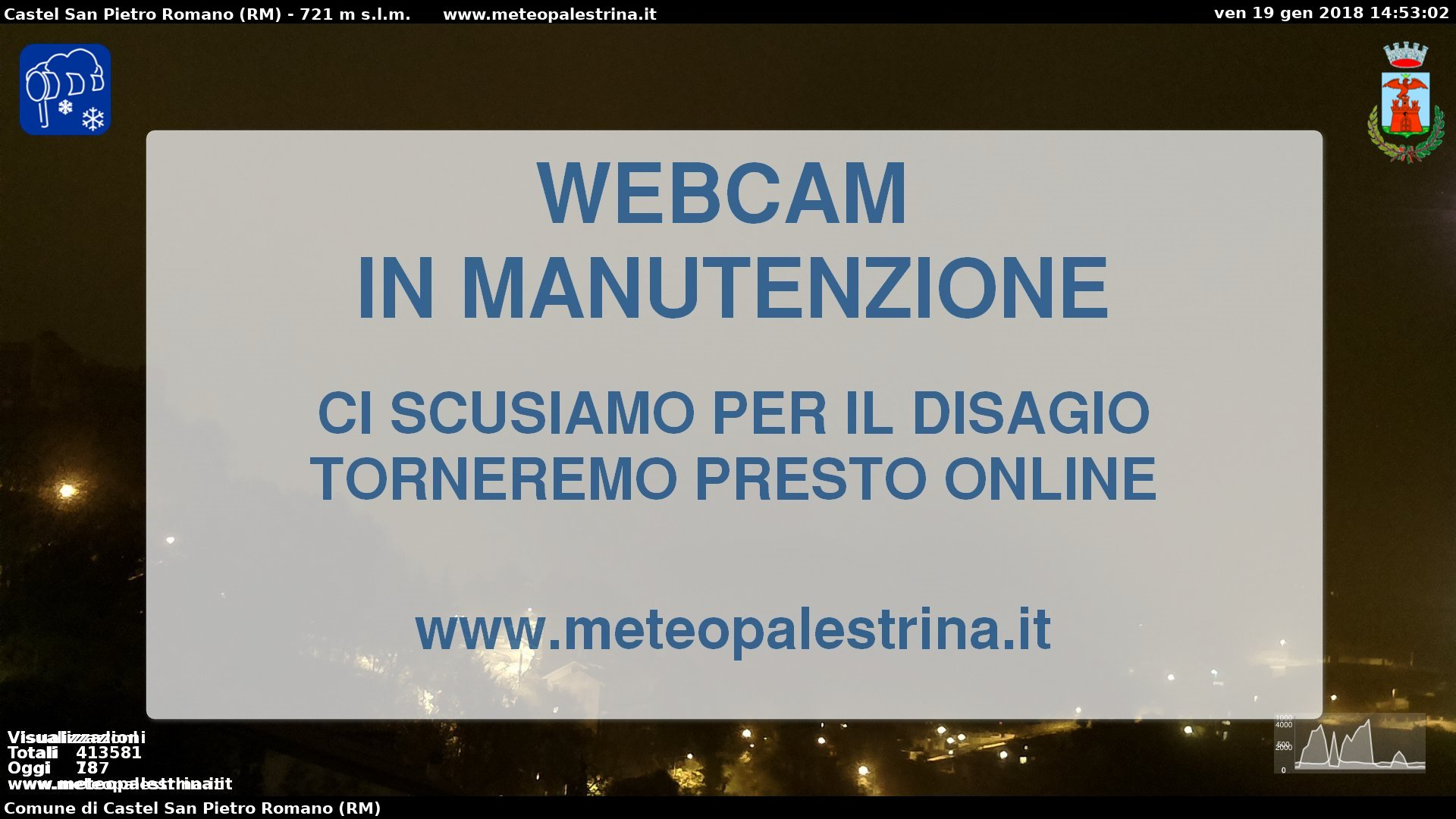 Immagini live da Palestrina - http://www.meteopalestrina.it/