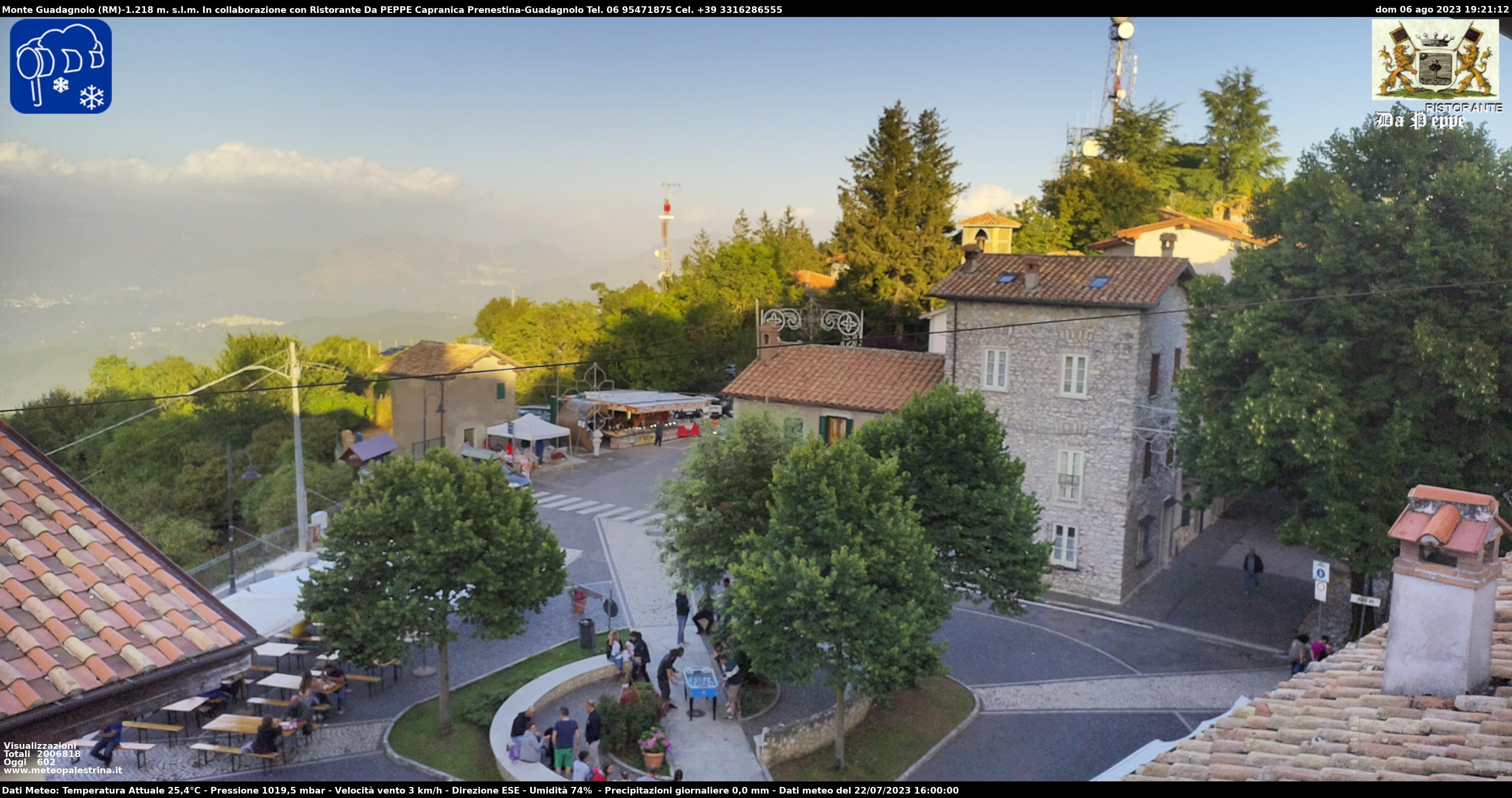 Immagini live da Monte Guadagnolo - http://www.meteopalestrina.it