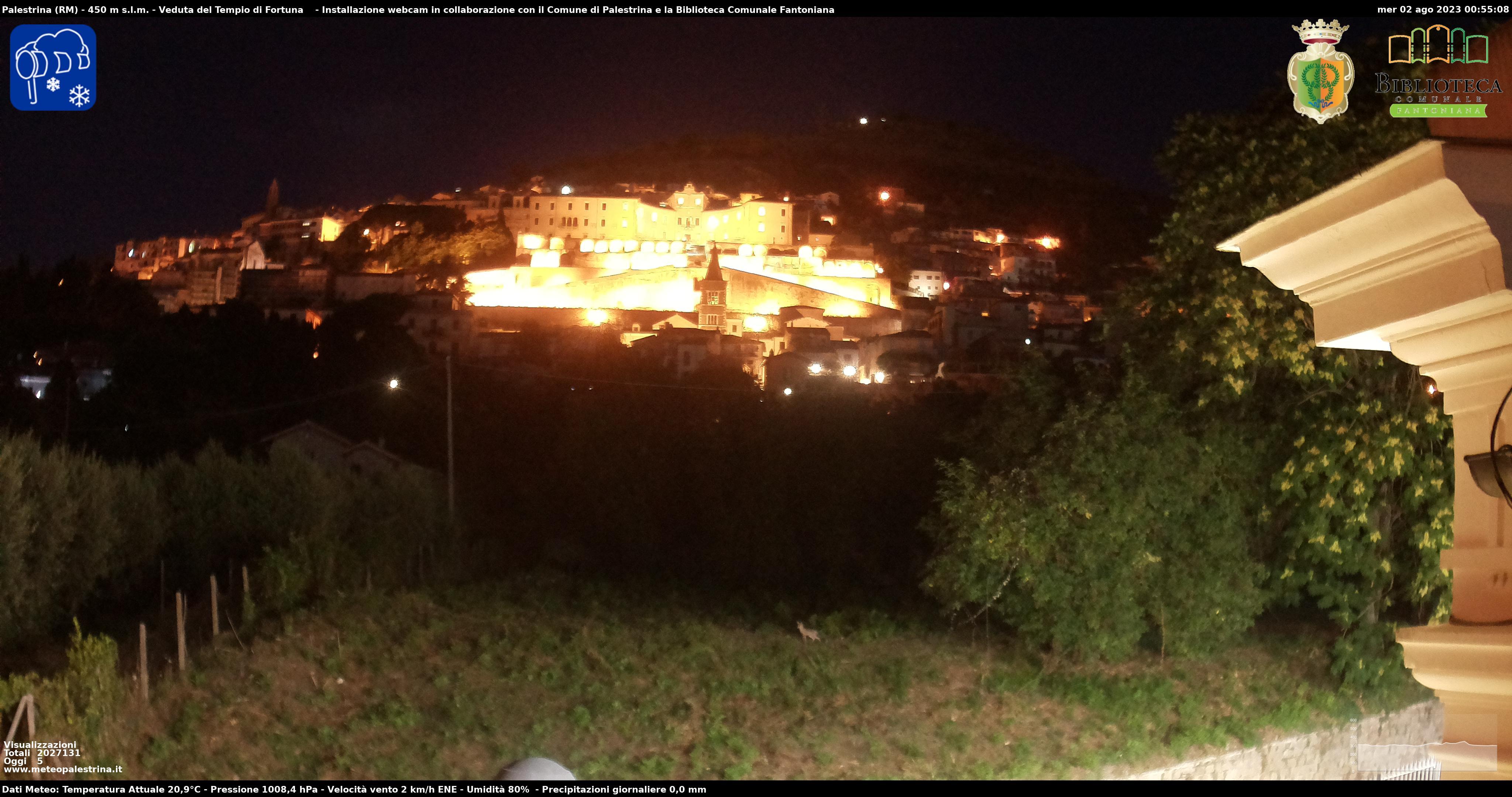 Panoramica Webcam Palestrina (Roma)